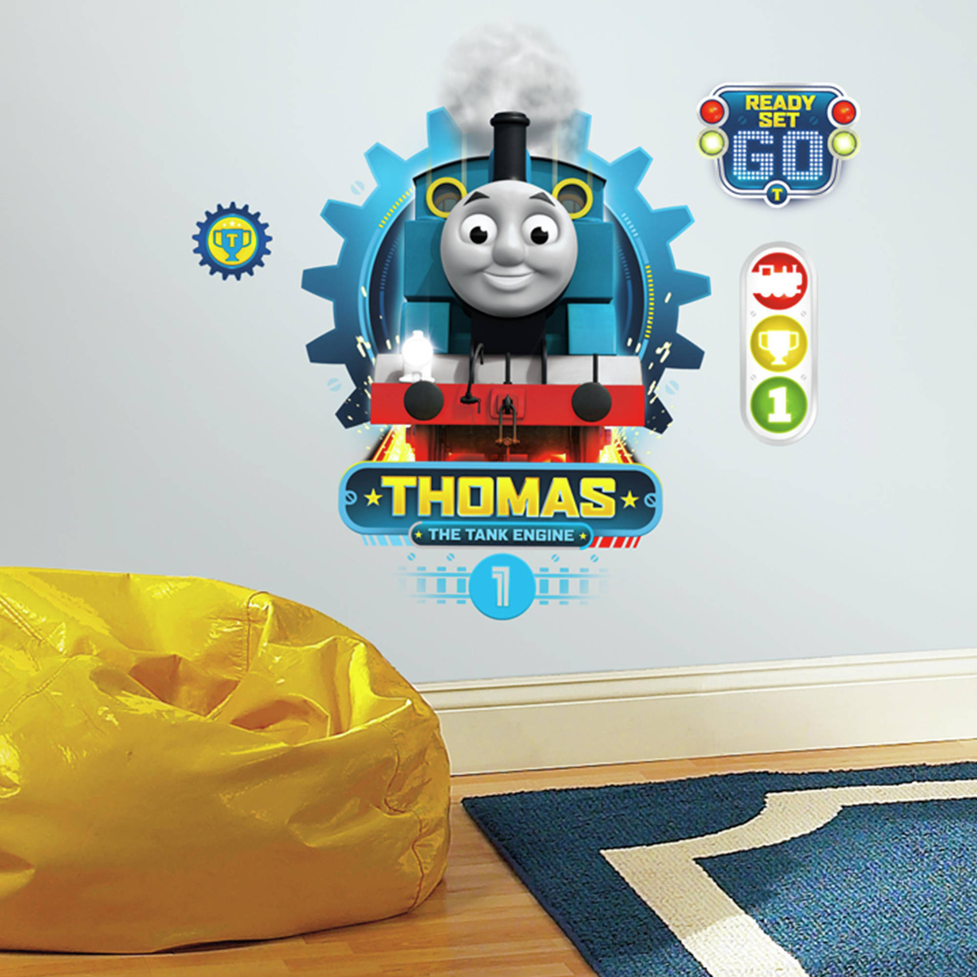 Train Wall Decor roommates decor thomas the tank engine peel-and-stick wall decals