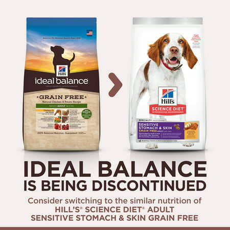 Hill's Ideal Balance Adult Grain Free Natural Chicken & Potato Recipe Dry Dog Food, 3.5 lb bag - Ideal Balance Grain