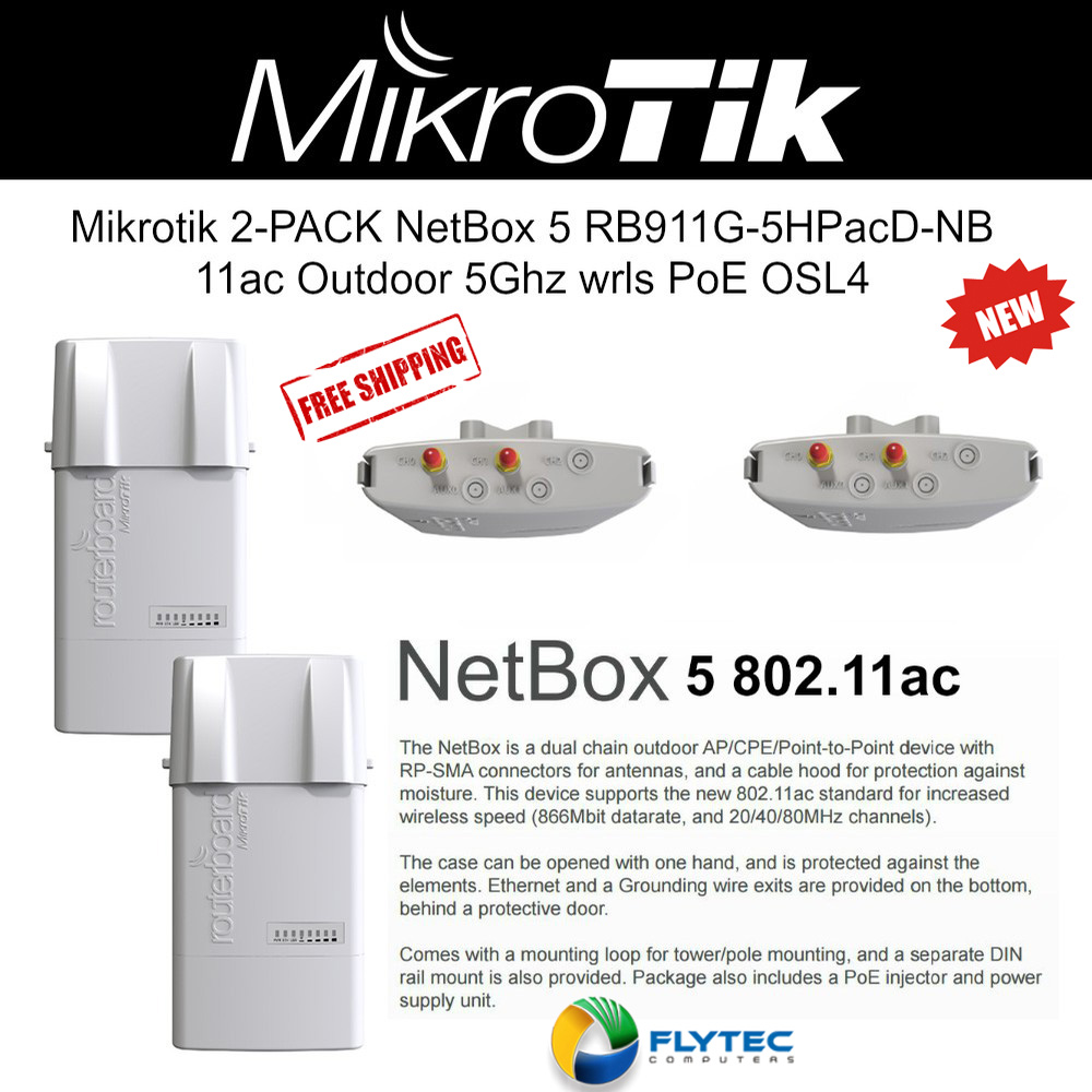Mikrotik mANTBox 15s 2-UNITS Built-in 5GHz 11a/n/ac 15dBi Sector Antenna  OSL4