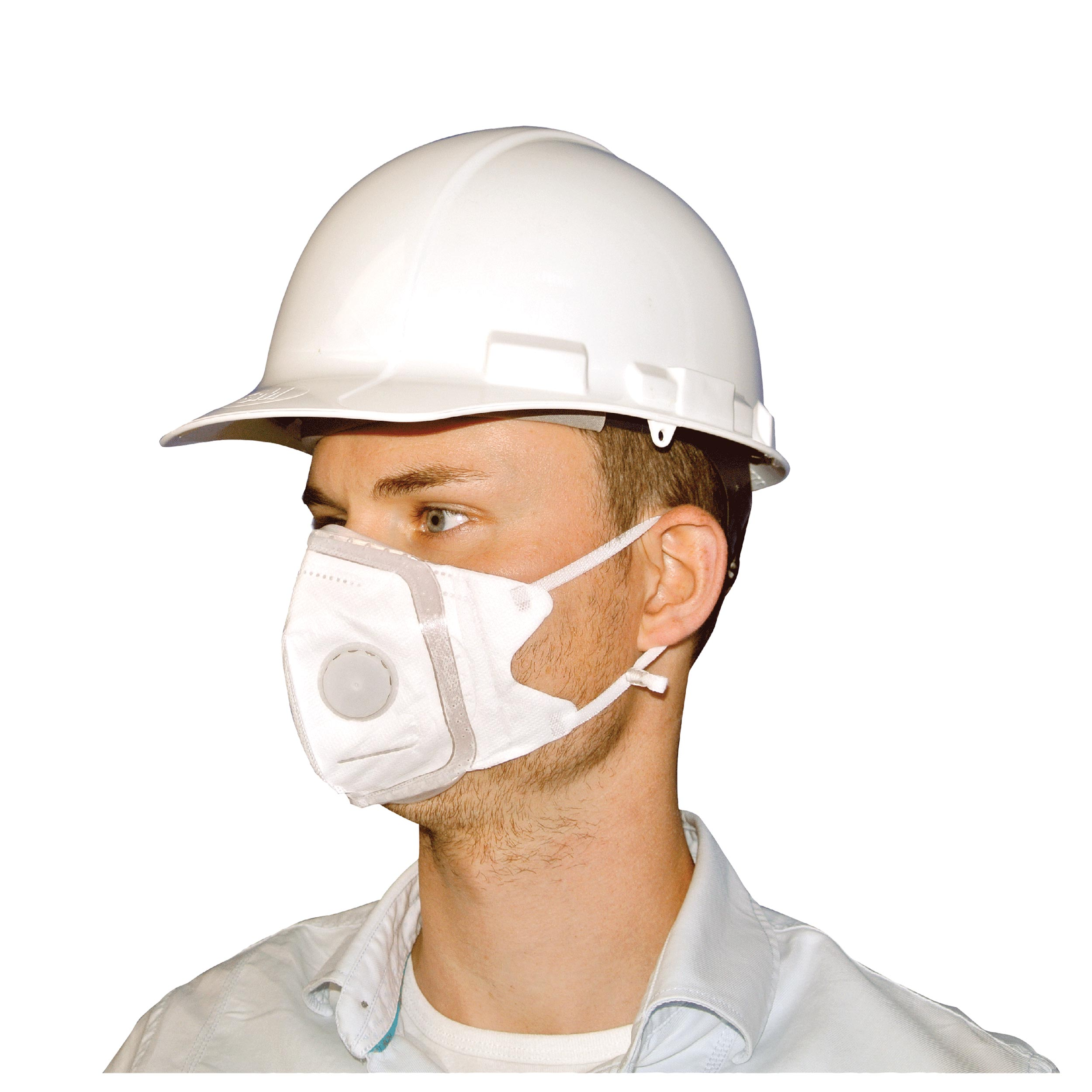 SoftSeal Respirator V-Fold Mask with Valve, Medium, 3-pack