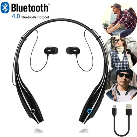 Universal Wireless Bluetooth Headset Headphones Stereo Neckband Sports Earbuds with Mic for Cell Phone -