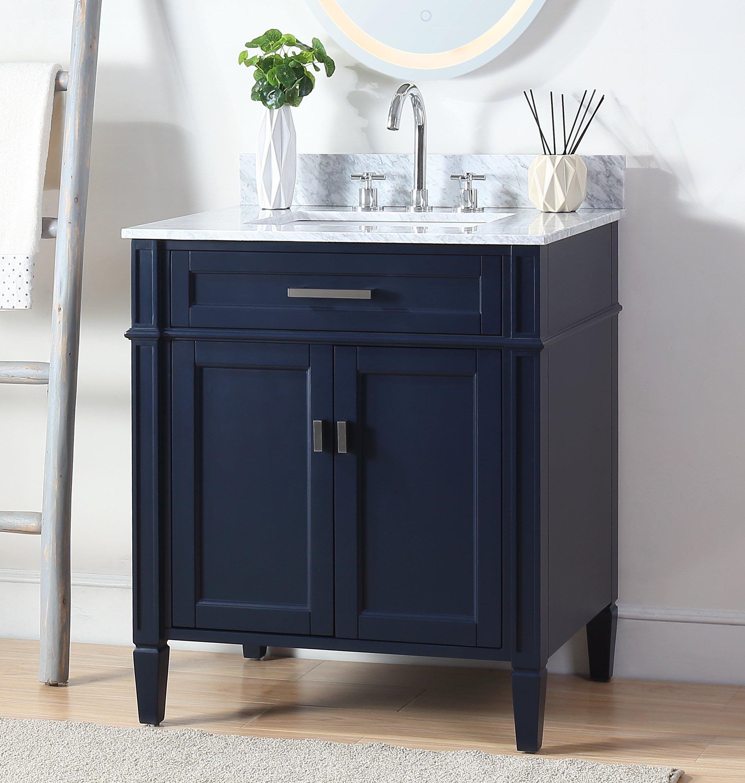 36 Tennant Brand Durand Contemporary Navy Blue Bathroom Vanity Zk 1808 V30nb Bs Walmart Com Walmart Com