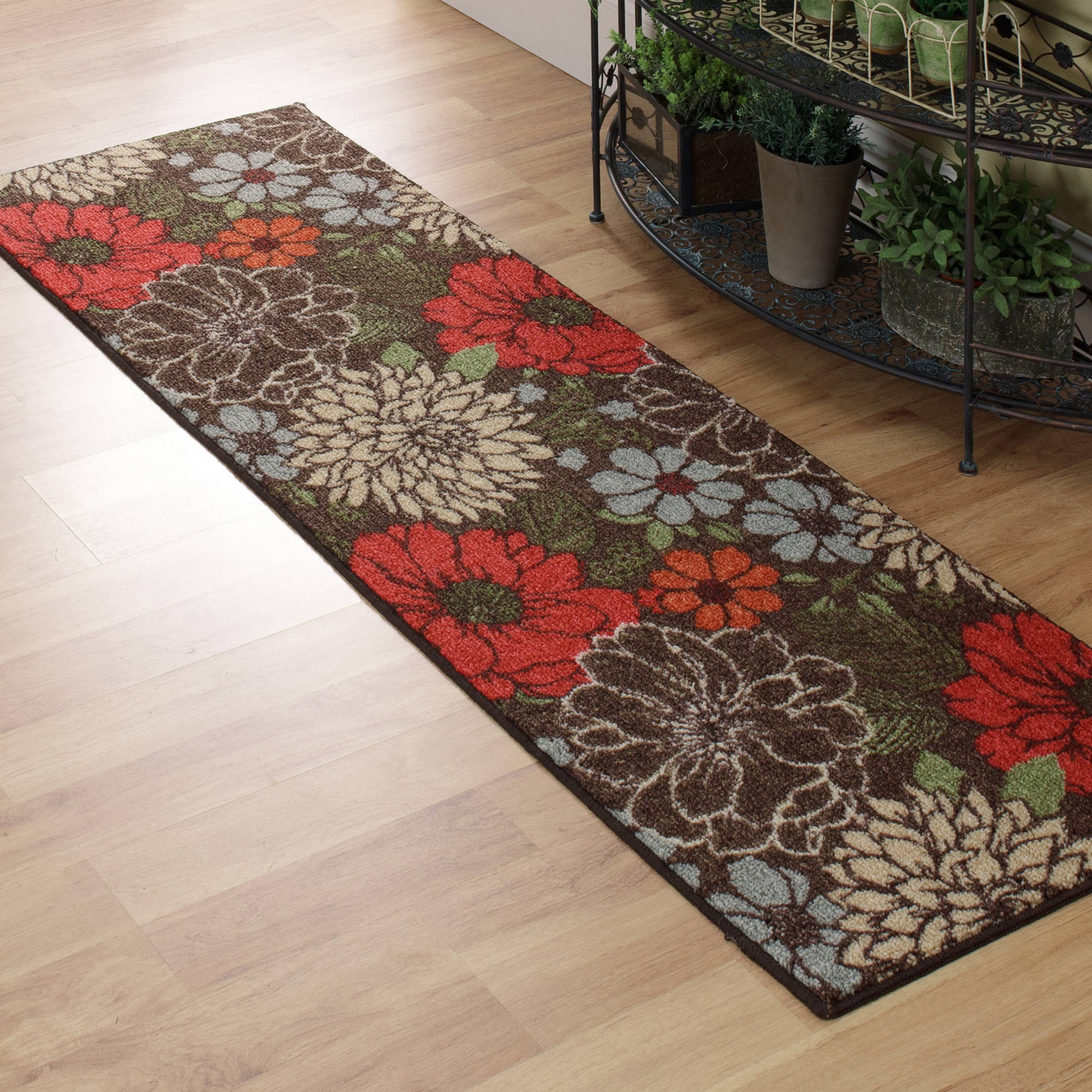 "Better Homes and Gardens Sorbet Floral Runner, 1'11"" x 6'"