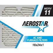 16x24x1 AC and Furnace Air Filter by Aerostar - MERV 11, Box of 6