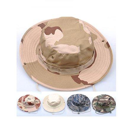 Unisex Woodland Fishing Hiking Travel Military Sun-proof Camo Boonie Hat  Cap - Walmart.com 3b3a1086d9f8