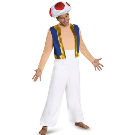 Men's Toad Deluxe Costume - Super Mario Brothers ()
