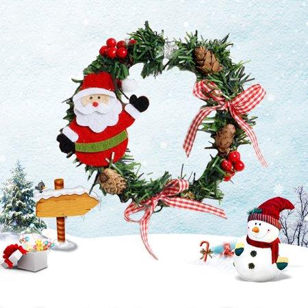 Wreaths, Christmas Snowman Santa Garland Christmas Decoration Garland