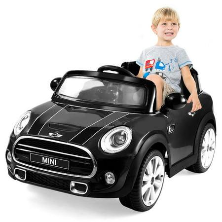 Costway BMW MINI Hatch 12V Electric Kids Ride On Car Licensed MP3 RC Remote Control ()