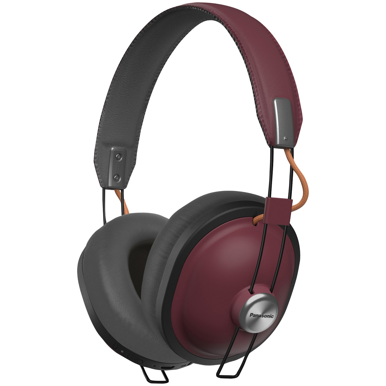 Panasonic RP-HTX80B-R Retro Bluetooth Over-ear Headphones (sangria)