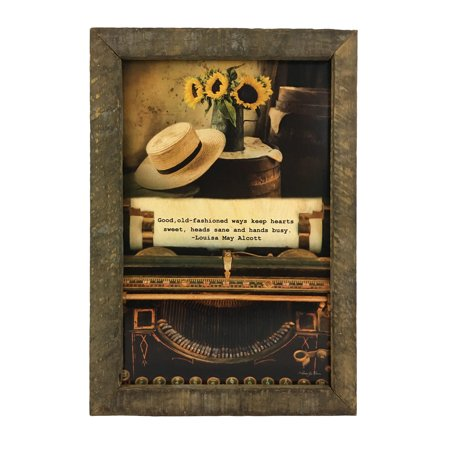 Old Fashioned Ways Quote Print w/ Rustic Reclaimed Tobacco Board Frame