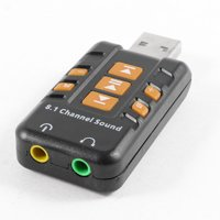 Unique Bargains Laptop External USB 2.0 to 3D Virtual Audio Sound Card Adapter 8.1CH