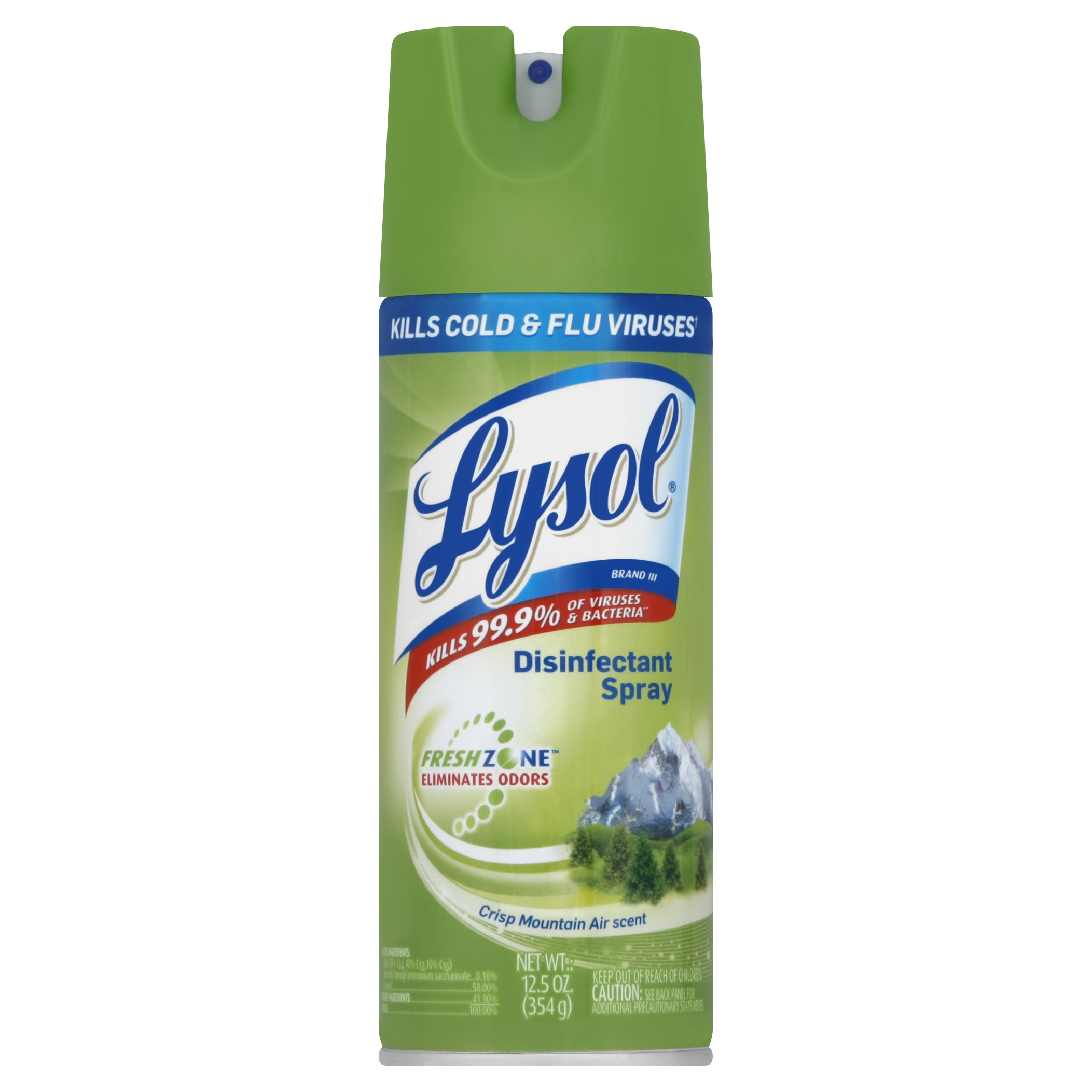 Lysol Disinfectant Spray, Crisp Mountain Air Scent, 12.5 Ounce
