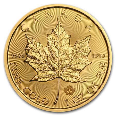 2018 Canada 1 oz Gold Maple Leaf (Germany Gold Leaf)