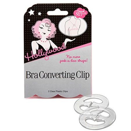 Hollywood Fashion Secrets Hook Ups Bra Converting Concealing Clips, Perfect for racer back styles and tank tops By Hollywood Fashion Tape - Hook Ups Bra Converting Clip