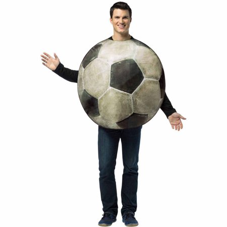 Get Real Soccer Ball Adult Halloween Costume - Make A Crystal Ball For Halloween