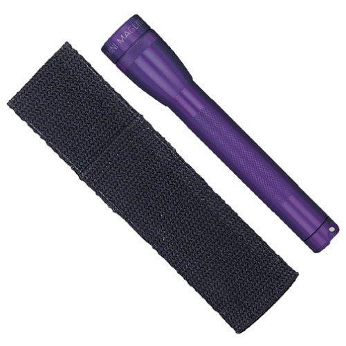 Mag Mini AA High Intensity Flashlight with Holster - Flashlight - Lamp - AA - Aluminum - Purple