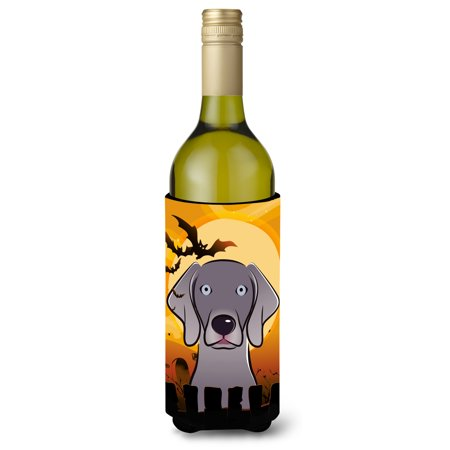 Halloween Weimaraner Wine Bottle Beverage Insulator Hugger BB1789LITERK (Wine Bottle Halloween Crafts)