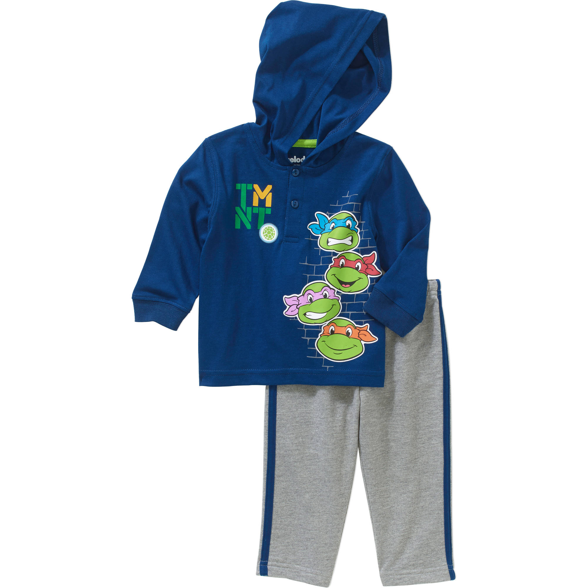 Teenage Mutant Ninja Turtles Newborn Baby Boys' French Terry Hoodie Top and Jersey Pants Outfit Set