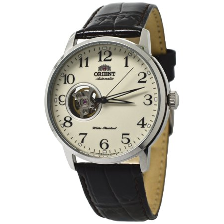 Classic Open Heart Automatic AG0010S Brown Leather Band Men's (Automatic Open Heart)