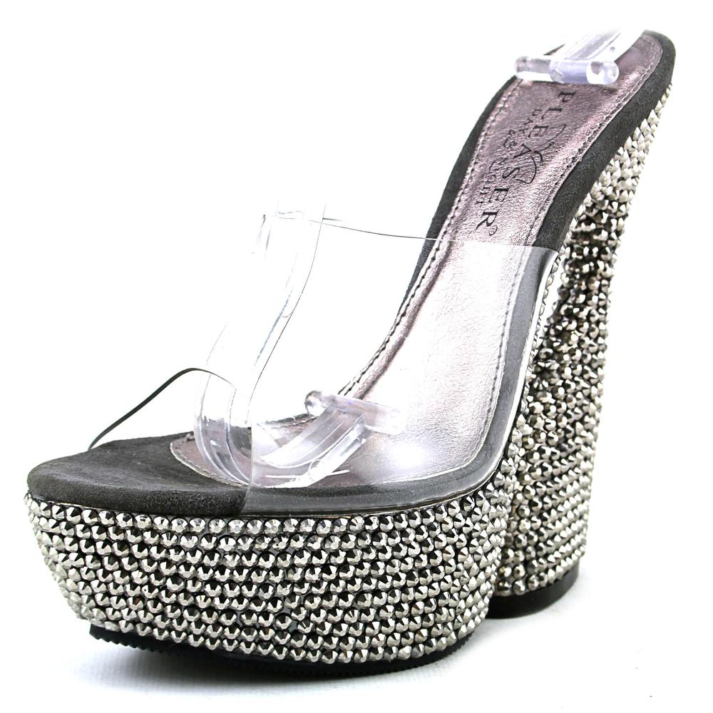 Pleaser Swan-601DM   Open Toe Synthetic  Platform Sandal