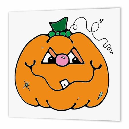 3dRose Halloween Cute Boy Pumpkin, Iron On Heat Transfer, 10 by 10-inch, For White Material