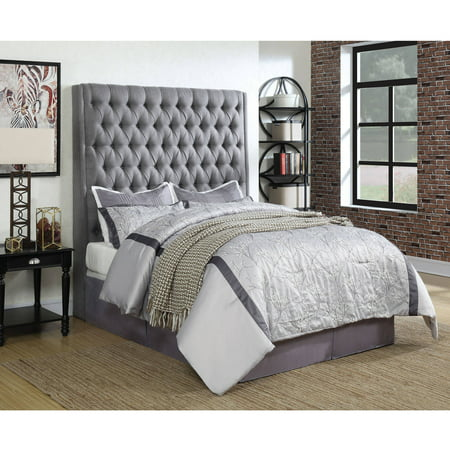 size 40 4cacd 881d3 Coaster Company Camille Upholstered Eastern King Headboard, Grey Fabric