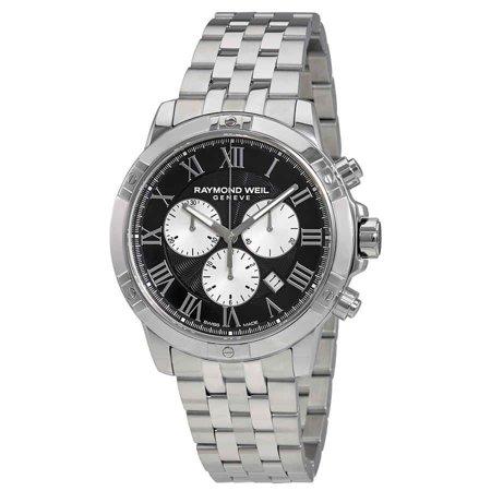 Raymond Weil Tango Black Dial Men's Chronograph Watch 8560-ST-00206