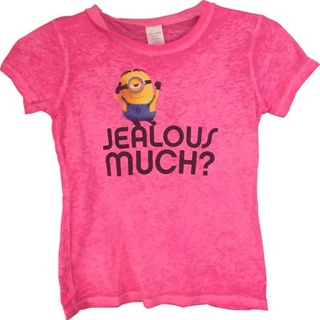 Despicable Me Minions Juniors Pink T-Shirt Pink Small - Pink Minion