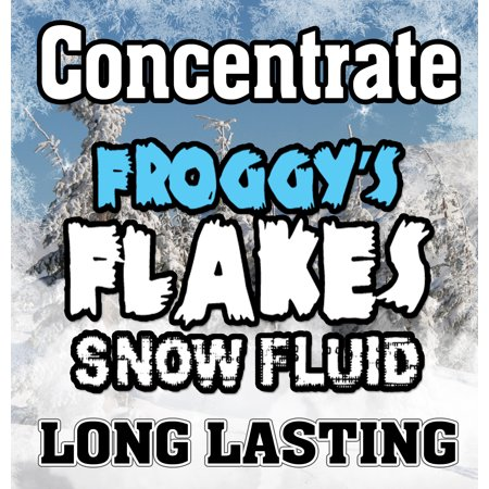 LONG LASTING Snow Juice Concentrate (Makes 4 Gallons) - (50-75 Feet Float / Drop) - 4 x 8 oz. Bottle (Machine To Make A Juice)