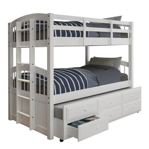 Harriet Bee Octavius Twin Bed with Trundle and Drawers