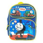 "Team Thomas the Train Engine Mini 12"" Canvas Blue School Backpack - No1 Thomas"