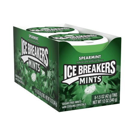 Ice Breakers, Sugar Free Spearmint Breath Mints, 1.5 Oz, 8 Ct