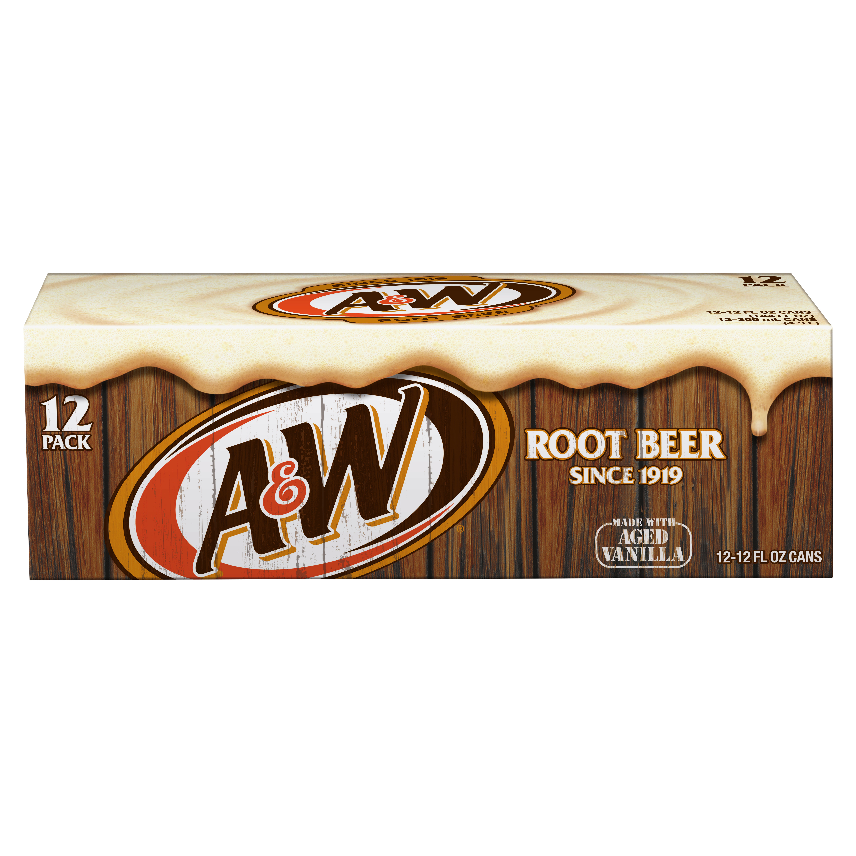 A&W Root Beer, 12 fl oz, 12 pack