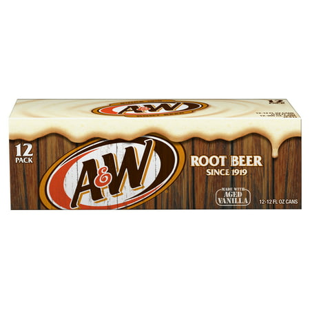 (2 Pack) A&W Root Beer, 12 Fl Oz Cans, 12 Ct (Root Beer Tin)