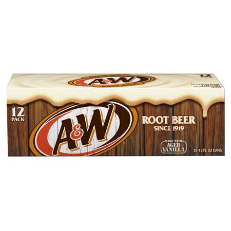 (2 Pack) A&W Root Beer, 12 Fl Oz Cans, 12 Ct