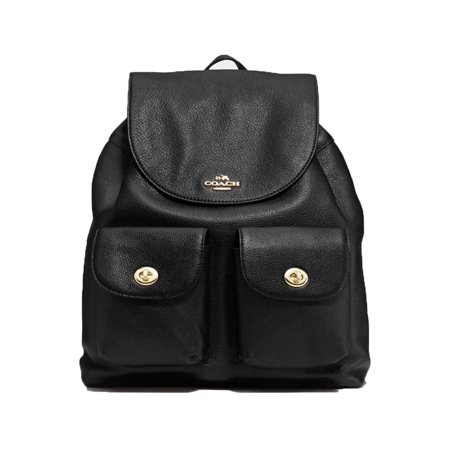 Black Leather Backpack - Coach Pebbled Leather Backpack F37410 Black