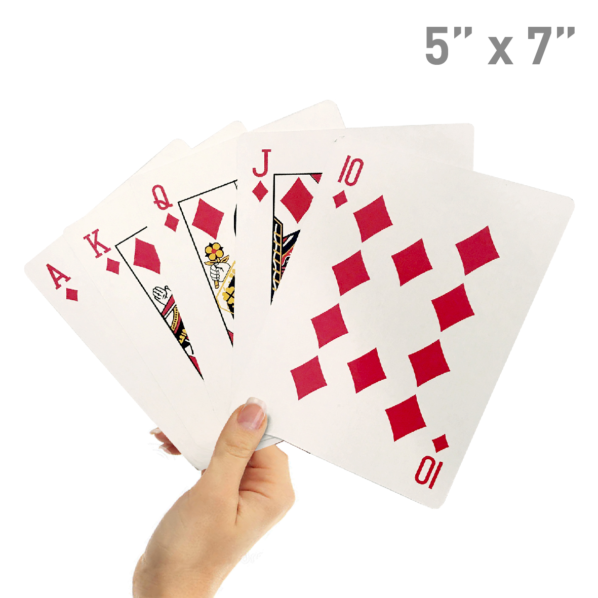 """8"""" X 11"""" Super Big Giant Playing Cards – Novelty Jumbo Cards for Kids, Teens or Seniors – Large Print – Poker Full Deck of Cards - Lowest Price on Amazon"""