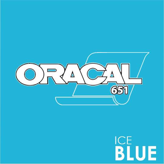ORACAL 651 Vinyl Roll of Glossy Ice Blue - Includes Free Multi-Purpose Squeegee - Choose Your Size