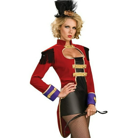 Sexy Ring Mistress Master Circus Themed Showgirl Adult Halloween Costume XS-L (Showgirl Makeup For Halloween)