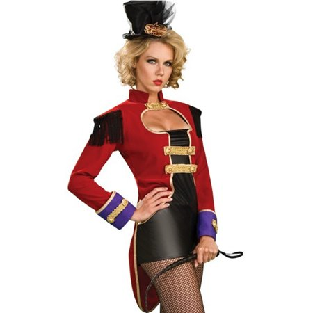 Sexy Ring Mistress Master Circus Themed Showgirl Adult Halloween Costume XS-L