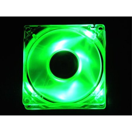 APEVIA CF4SL-UGN 80mm 4pin Silent Green LED Case Fan - Connecting to Power