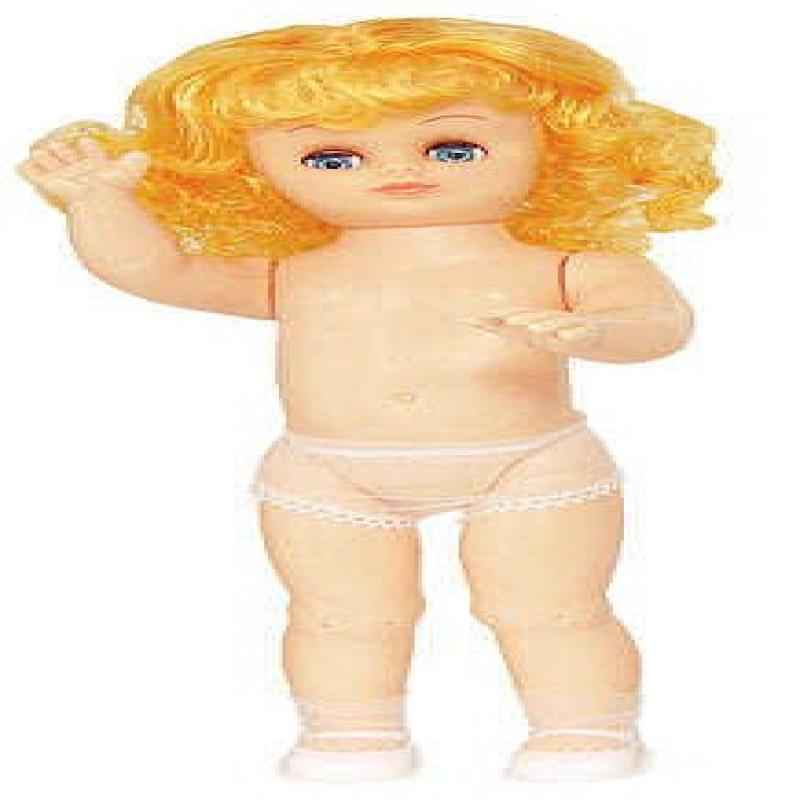 Strawberry Blonde Jointed Vinyl Full Bed Doll For Crafting