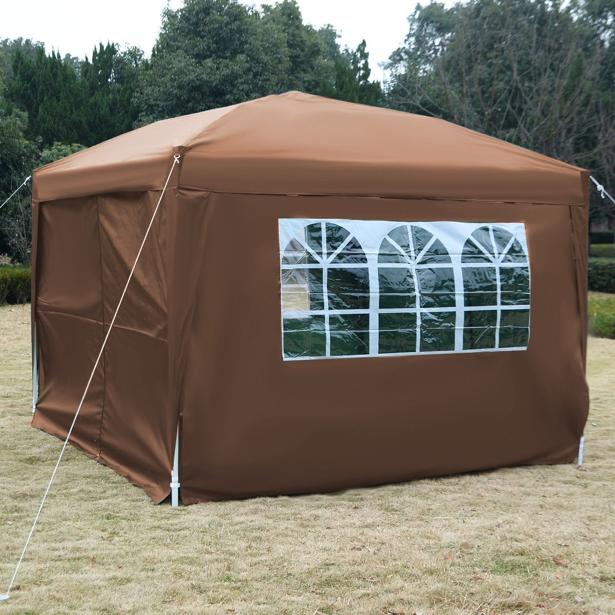 Apontus Outdoor Easy Pop Up Tent Cabana Canopy Gazebo with Walls 10u0027 x 10u0027 & Apontus Outdoor Easy Pop Up Tent Cabana Canopy Gazebo with Walls ...