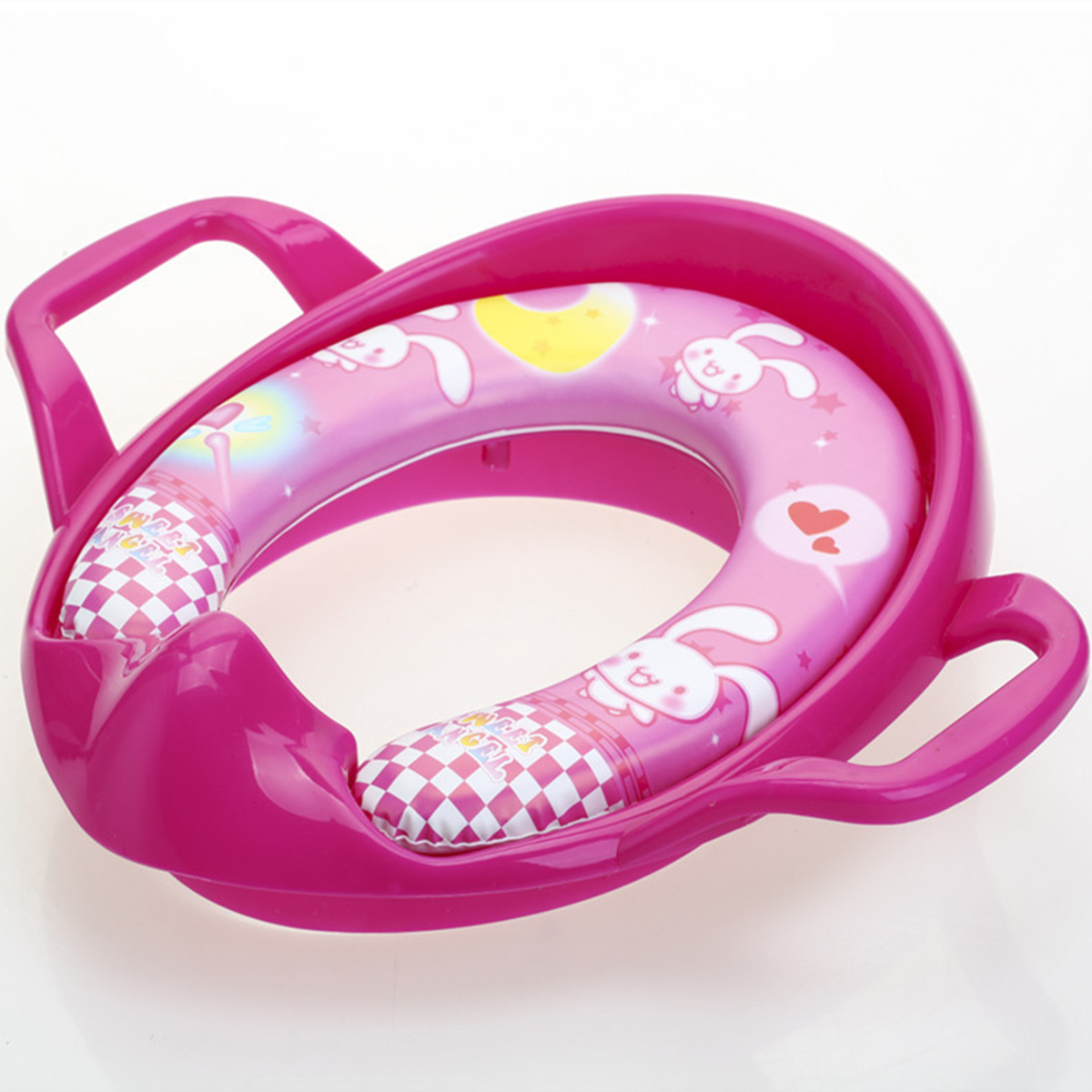 Children's Toilet Seat Soft Cushion Child Toddler Kids Safety Soft Toilet Training Trainer Potty Seat Handles