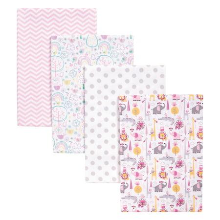 Pink Safari 4 Pack Blankets