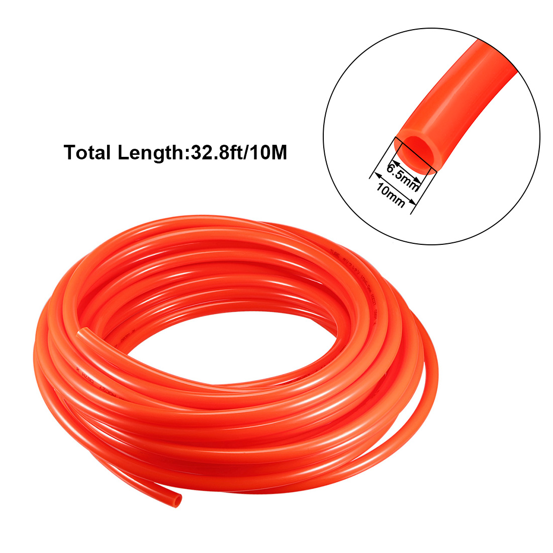 10mm X 6.5mm Pneumatic Air PU Hose Pipe Tube 10 Meter 32.8ft Red - image 1 of 4