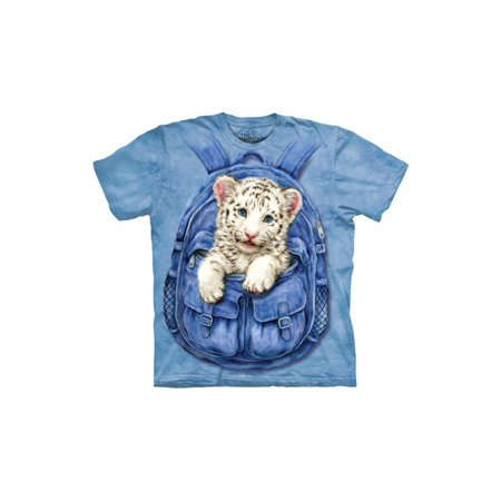 100% Cotton Backpack Tiger Awesome Youth T-Shirt Small (Awesome Backpacks)