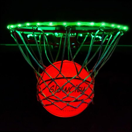 Ultra Bright LED Basketball With Glow In The Dark LED Rim Kit](Basketballs In Bulk)