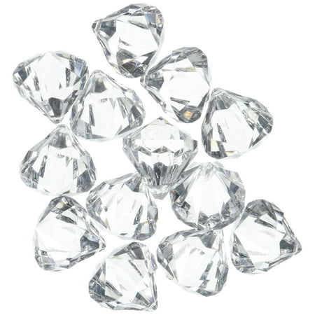 Acrylic Clear Ice Rock Diamond Crystals Treasure Gems for Table Scatters, Vase Fillers, Event, Wedding, Arts & Crafts, Birthday Decoration Favor (60 Pieces) by Super Z Outlet](Crafting Stores)
