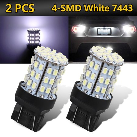 TSV 2PCS 6000K Extremely Bright 7443 4014 1206 Chipsets 7440 7441 7443 7444 992 LED Bulbs with Projector for Backup Reverse Lights, Xenon White - Lcd Projector Bulbs